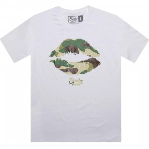 Popular Demand Camo Kiss Tee (white) - Early Release