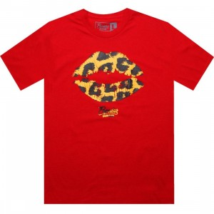 Popular Demand Cheetah Kiss Tee (red)
