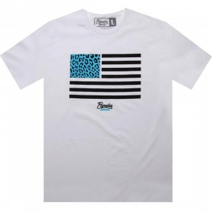 Popular Demand Cheetah Flag Tee (white)
