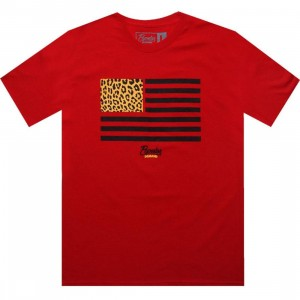 Popular Demand Cheetah Flag Tee (red)