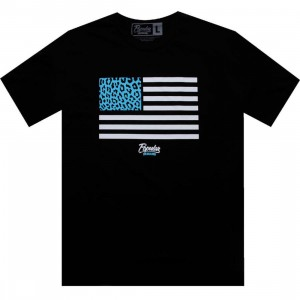 Popular Demand Cheetah Flag Tee (black)