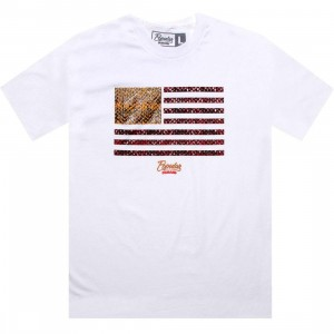 Popular Demand Snakeskin Flag Tee (white)