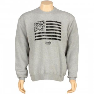 Popular Demand Cheetah Flag Crewneck (heather)