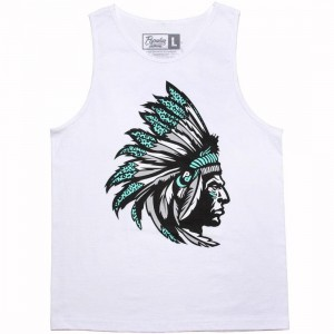 Popular Demand Chief Tank Top (white)