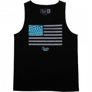 Popular Demand Cheetah Flag Tank Top (black)
