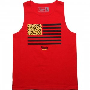 Popular Demand Cheetah Flag Tank Top (red)