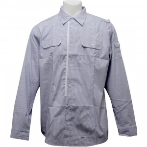 Orisue Javerton Long Sleeve Woven Shirt (navy)