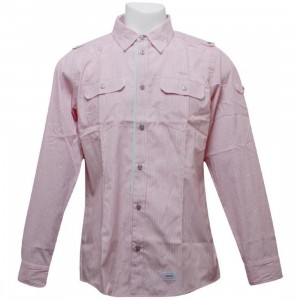 Orisue Javerton Long Sleeve Woven Shirt (red)