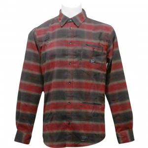 Orisue Amberton Long Sleeve Woven Shirt (red)