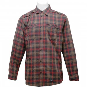 Orisue Charleston Long Sleeve Woven Shirt (red)