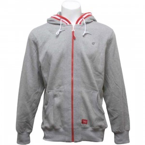 Orisue Nesterfield Zip Up Hoody (heather grey)