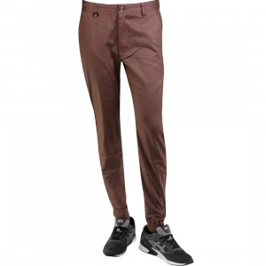 Publish Newkirk Slub Stretch Twill Jogger Pants (burgundy / maroon)