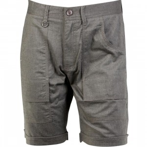 Publish Banksy Brushed Chambray Cargo Shorts (gray / charcoal)
