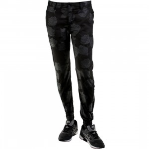 Publish Arion Floral Silhouette Jogger Pants (black)