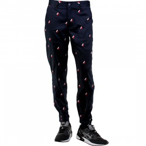 Publish Damian Polka Quill Twill Jogger Pants (navy)
