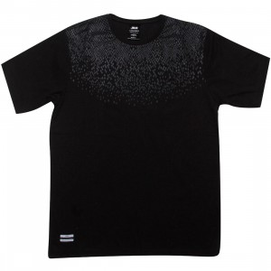 Publish Ananta Snake Skin Pattern Short Sleeve Tee (black)