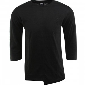 Publish Sanders Slub Jersey 3/4 Sleeve Crew Neck Tee (black)