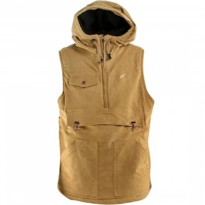 Publish Oaks Hooded Anorak Vest (khaki)
