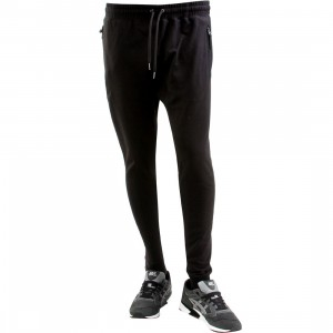 Publish Alek Overlock Stitching Fleece Jogger Pants (black)