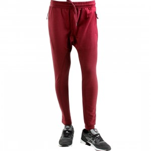 Publish Alek Overlock Stitching Fleece Jogger Pants (burgundy / maroon)