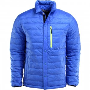 Penfield Naklin Lightweight Packable Down Shirt Jacket (blue / cobalt)