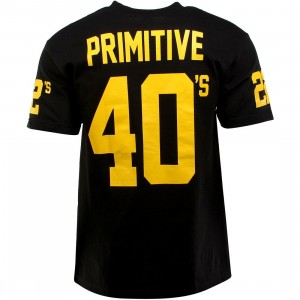 Primitive 40s And 22s Tee (black / gold)