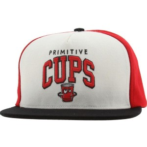 Primitive Cups Snapback Cap (red / white / black)