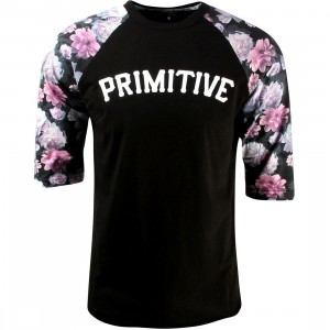 Primitive Rose Noir Raglan Tee (black)