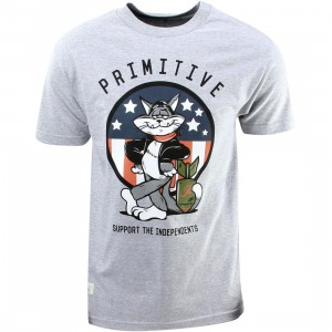 Primitive Tom Cat Tee (gray / athletic heather)