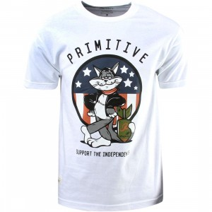 Primitive Tom Cat Tee (white)