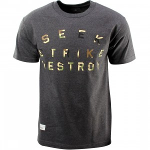 Primitive Destroyer Tee (gray / charcoal heather)