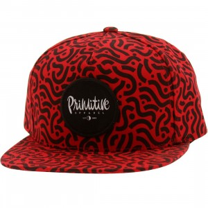 Primitive Sammy Adjustable Strapback Cap (red)