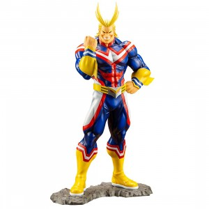PREORDER - Kotobukiya ARTFX J My Hero Academia All Might Statue With Bonus Face Part (blue)