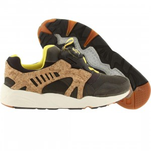 Puma Men Disc Blaze Leather Cage Lux Opt 2 (gray / yellow)