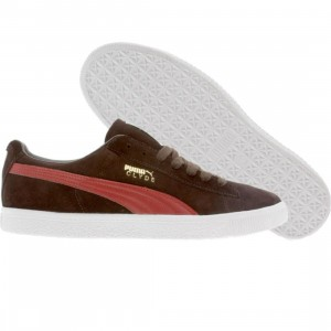 Puma Clyde Premium (black coffee / rio red)