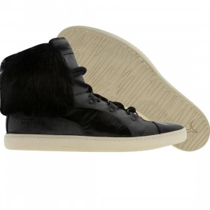 Puma Blackstation Womens AMQ Bound Mid Fur - Alexander McQueen (black)