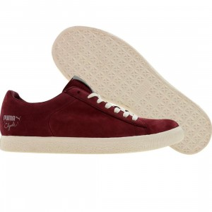 Puma Clyde X UNDFTD Luxe 2 - Stripe Off (team burgundy / whisper white)