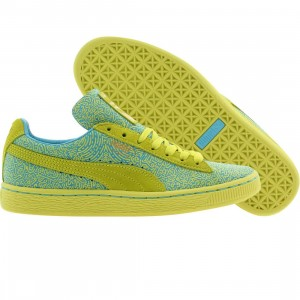 Puma x Solange Women Suede Classic Lines (yellow / sulphur spring / blue atoll)