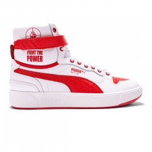 Puma x Public Enemy Men Sky LX (white / high risk red)