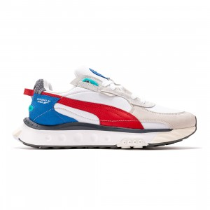 Puma Men Wild Rider Layers (white / urban red)