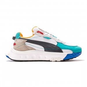 Puma Men Wild Rider Layers (white / viridian green)