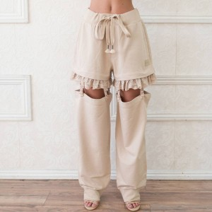Puma x Fenty by Rihanna Women Suspenders Pants (brown / khaki)