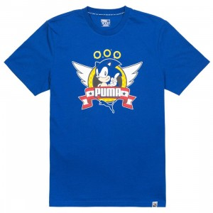 Puma x Sega Men Sonic Tee (blue / surf the web)