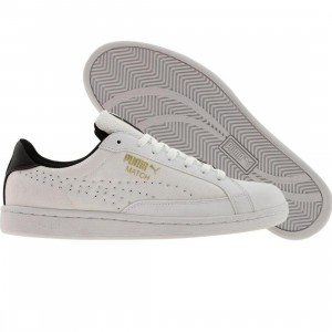 Puma Match Canvas (white / black / metallic gold)