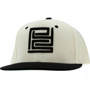 PYS Block Logo Snapback Caps - Black (natural / black)