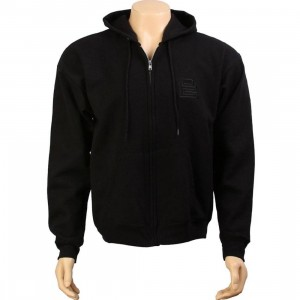 PYS Block Logo Zip Up Hoody - Black (black)