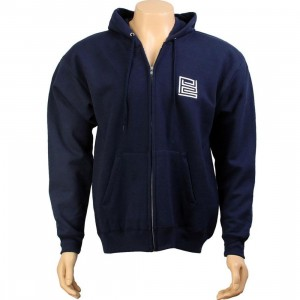 PYS Block Logo Zip Up Hoody - White (navy)