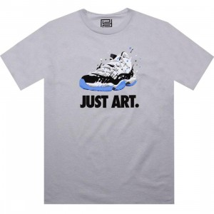 PYS Just Art Tee - Retro 11 Concord (silver) - PYS Exclusive
