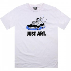 PYS Just Art Tee - Retro 11 Concord (white) - PYS.com Exclusive