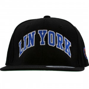 PYS Lin York Snapback Cap - LIN 17 Collection (black / black / blue / white)